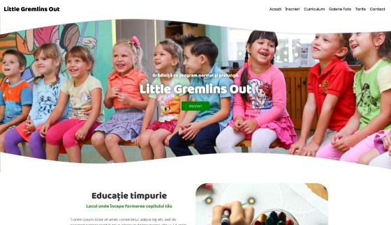 Creare website gradinita / afterschool